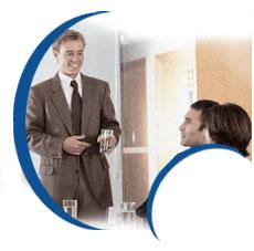 Consulenti aziendali durante una riunione